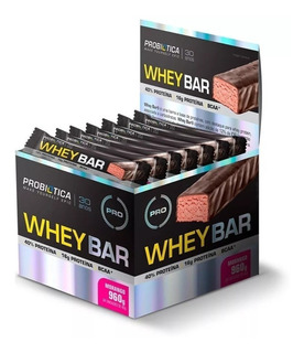 Whey Bar Probiótica Caixa Com 24 Barrinhas Vários Sabores