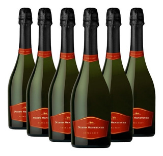 Champaña Nieto Senetiner Extra Brut 750ml Caja X6 Champagne