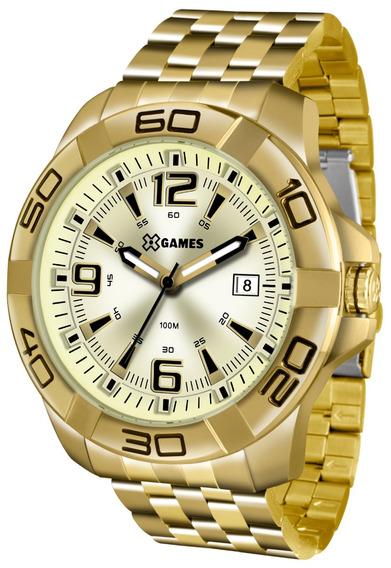 Relógio X-games Masculino Xmgs1023 C2kx Dourado Aço Analogic