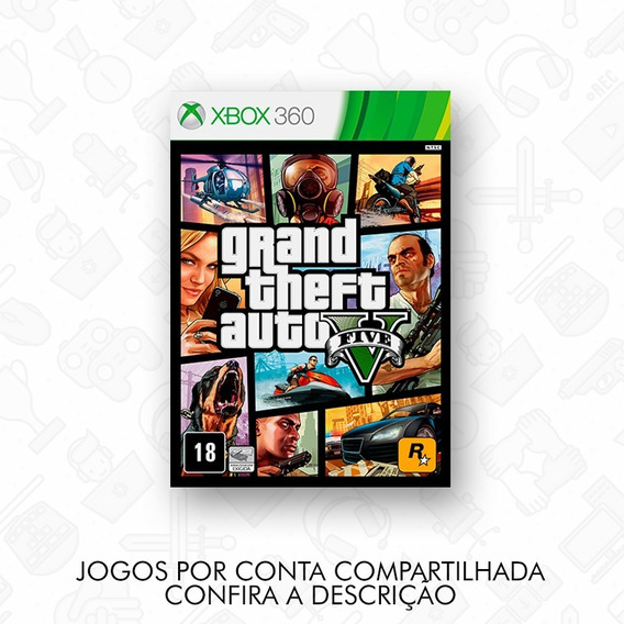 Gta 5 + 6 Dlcs - Mídia Digital - Xbox 360