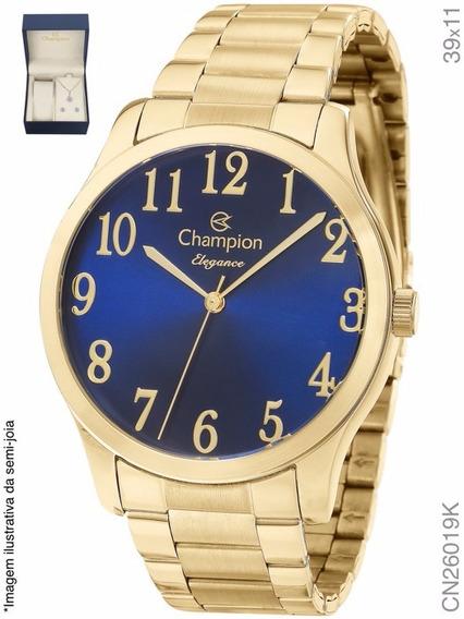 Kit Relógio Champion Dourado Passion Analógico Cn26019k