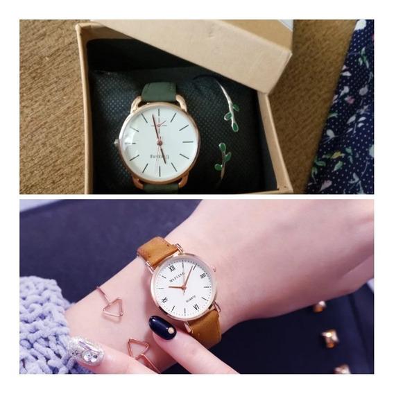 Combo Relógios Femininos Brinde Luxuosos Acabamento Especial