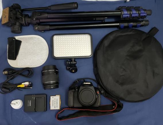 Câmera Canon T3i - Lente 18-55mm