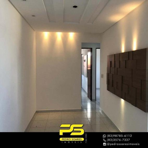 Apartamento Com 3 Dormitórios Para Alugar, 83 M² Por R$ 1.300/mês - Manaíra - João Pessoa/pb - Ap3282