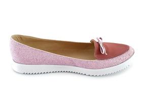Zapatos Dama Valerinas Flats Mujer Mayoreo Modelo 213 Rosa