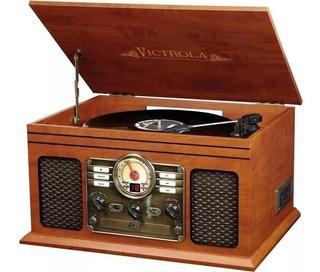 Vitrola Toca Discos 6 En 1 Cassette Bluetooth Radio Cd
