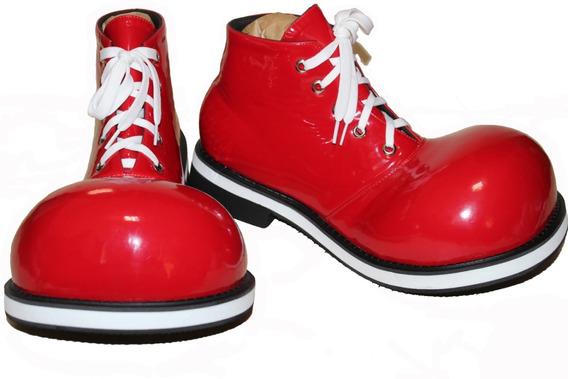 Zapatos De Payaso Profesionales Rojos