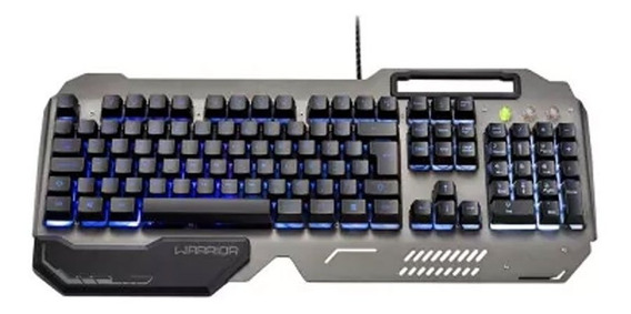 Teclado Gamer Ragnar Superfície Metal Led Warrior - Tc222