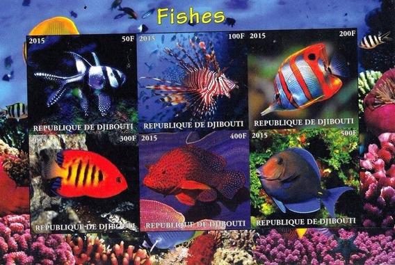 Bloco Novo Mnh Peixes Coloridos 2015 / Fauna