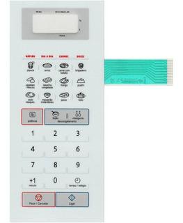 Membrana Teclado Microondas Panasonic Nnst571 Nn St 571