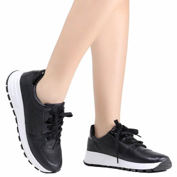 Tênis Feminino Zariff Jogging Couro