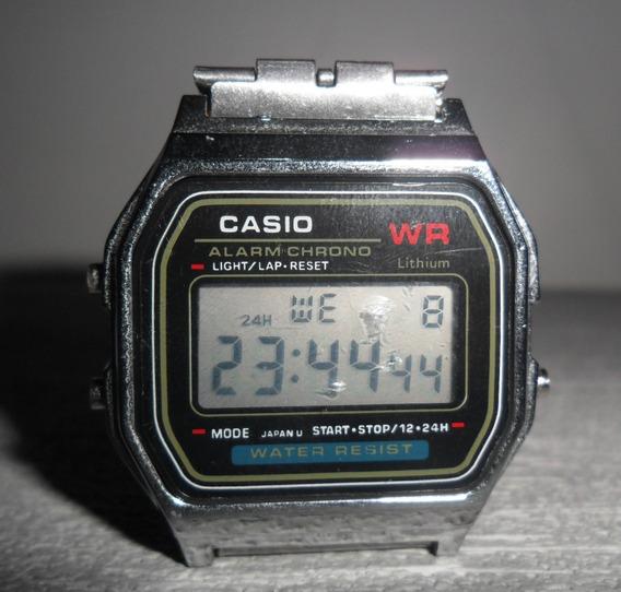 Relógio Prata Casio Vintage Retro Digital. Ajustável
