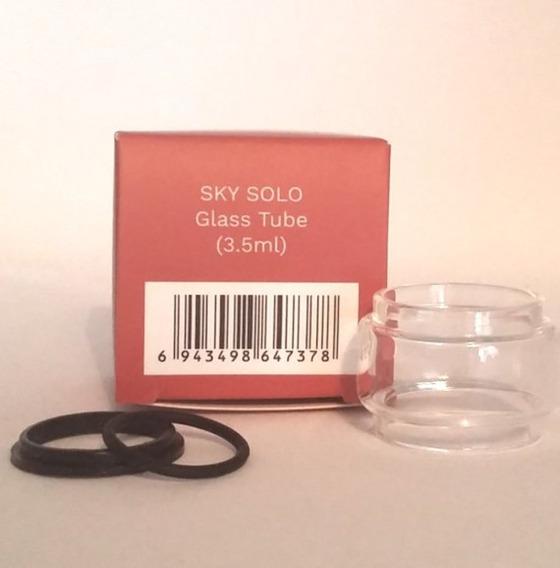Sky Solo 1400 Mah Tank Tubo De Vidro Bolha 3.5 Ml Pack C/ 3 Un - Original Com O-rings De Vedação