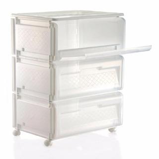 Carrito Organizador Mr Cart 3niv De 40x31x72cm Blanco 890