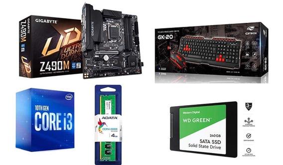 Kit Intel I3 10100, Gigabyte Z490m, 16gb, Ssd 240gb + Brinde