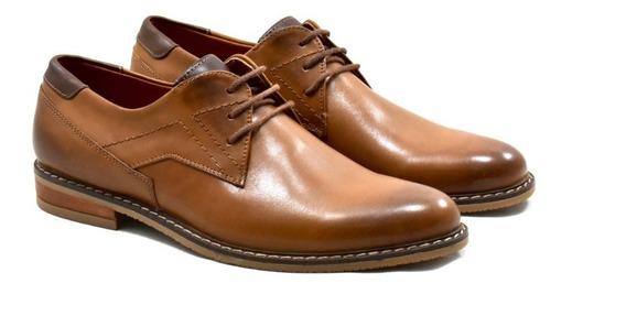 Zapato Marrón De Cuero Para Hombre 208/a-s