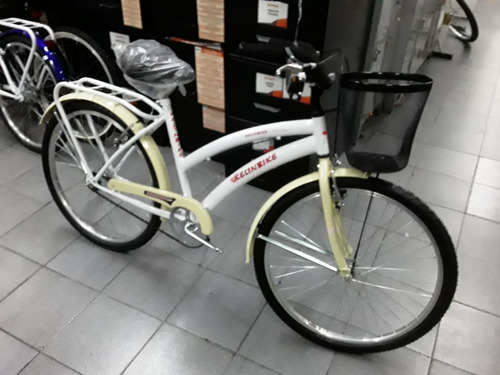 Bicicleta Paseo Playera Rodado 26 De Lujo Dama Con Canasto *
