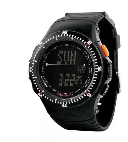 Reloj Tressa Hombre Táctico Digital Doble Hora Sumergible