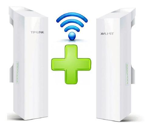 Imagen 1 de 7 de Enlace Internet Tp-link Cpe210 Punto A Punto 5km