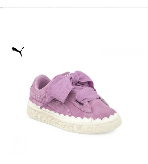 Zapatillas Puma De Nena Suede Heart Rubberized Ps Env Gratis