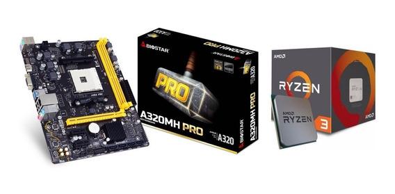 Kit Gamer Amd Biostar A320mh Pro + Ryzen 3 2200g Vega Am4