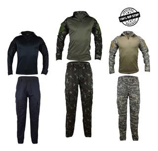 Farda Tática Camisa Combat + Calça Cargo Airsoft Paintball