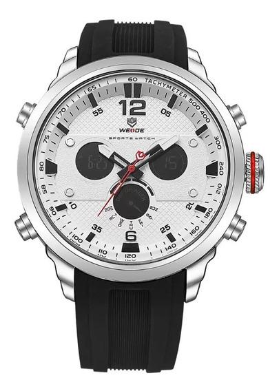 Relógio Masculino Weide Wh-6303 C/ Pulseira Borracha