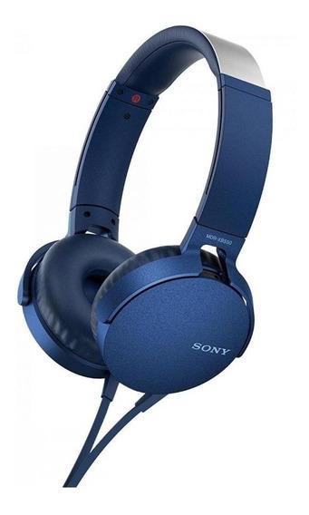 Fone de ouvido Sony EXTRA BASS MDR-XB550AP azul