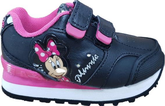 Zapatilla Addnice Minnie Velcro Niñas Original Megacaseros