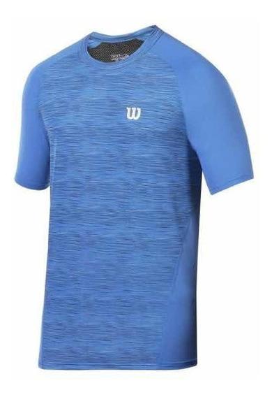 Camiseta Wilson Azul Cielo Hombre