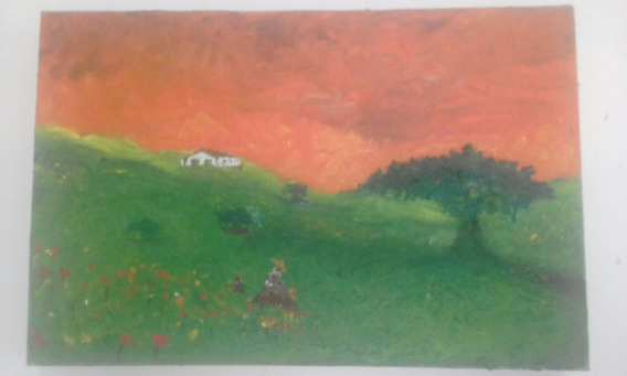 Óleo Sobre Tela 20x30 (casa De Campo) 2004 Pintor Vital