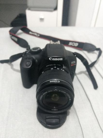 Canon T6 + Lente 18-55m / Pouco Usada / Com Nota Fiscal