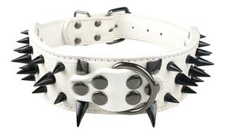 Collar Para Perro Con Picos De Metal, De Varios Colores.