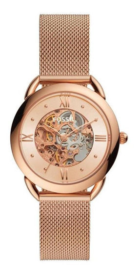 Relógio Fossil Tailor Automatic Feminino Rosé Me3165/1jn