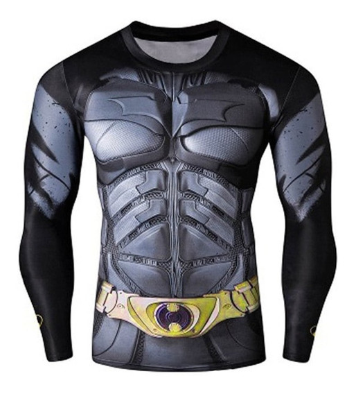 Playera Slim Fit Batman Gym Caballero Hombre Dry Sec Sport