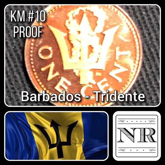 Barbados - 1 Cent - Año 1973 - Km # 10 - Proof - Tridente