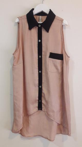 Camisa Camisola Sin Mangas Marca Ver Mujer Dorado T 40/xs