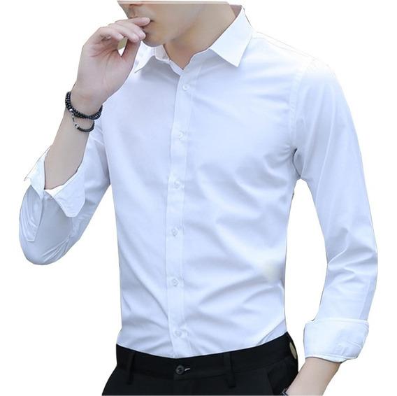 Camisa Social Masculina Branca Lisa Adulta E Adolecente Top