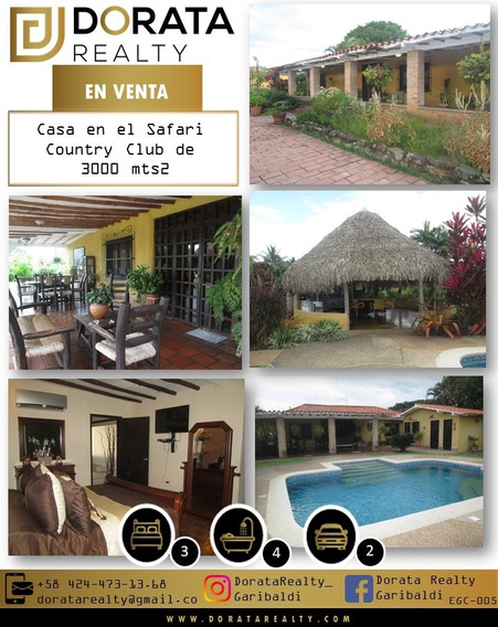 Egc-005 Se Vende Casa En El Safari Country Club Tocuyito