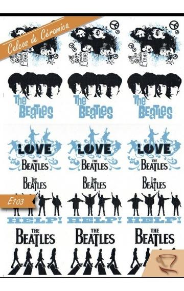 Calco Vitrificable Los Beatles Cerámica