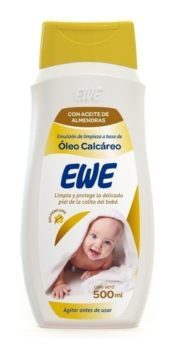 Ewe Emulsion  Limpieza Oleo Calcareo Aceite Almendras 500ml