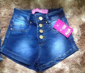 Short Jeans Feminino Estilo Pit Bul Modela Bumbum Cos Alto