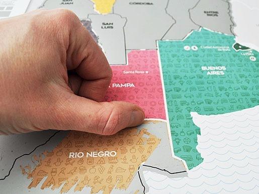 Mapa Raspa Raspadita Scratch Argentina Viajeros Tips
