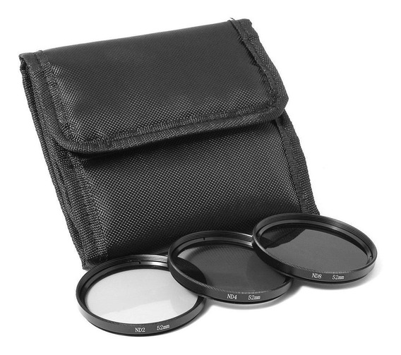 Kit De Filtro Nd2 + Nd4 + Nd8 + Case 77mm Canon Nikon Sony