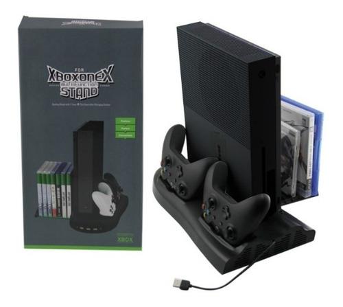 Accesorio Dock De Carga Consola Xbox One X Juegos Y Joystick