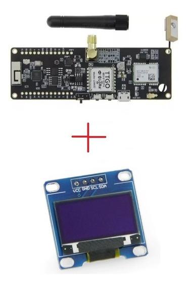 Modulo Esp32, Lora 915 Mhz, Gps, Suporte De Bateria + Brinde
