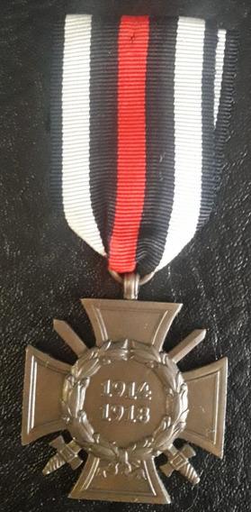 Réplica Medalha Cruz De Hindenburg Com Espadas Alemã