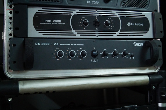 Amplificador De Potencia Ll Audio Dx2800 C/ Corte Para Sub