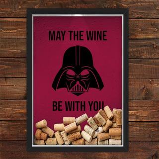 Quadro Caixa Porta Rolhas Vinho Vader Wine