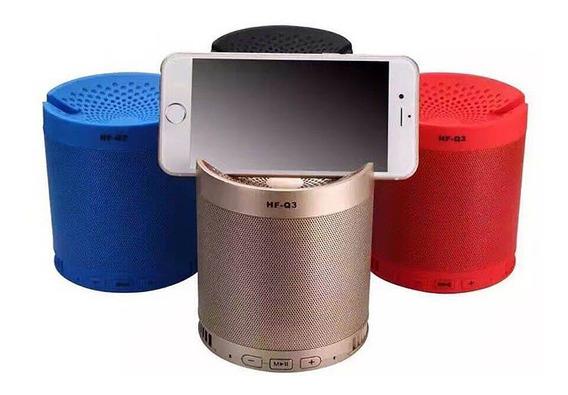 Caixa De Som Q3 Com Bluetooth Aux P2 Micro Sd Atende Celular
